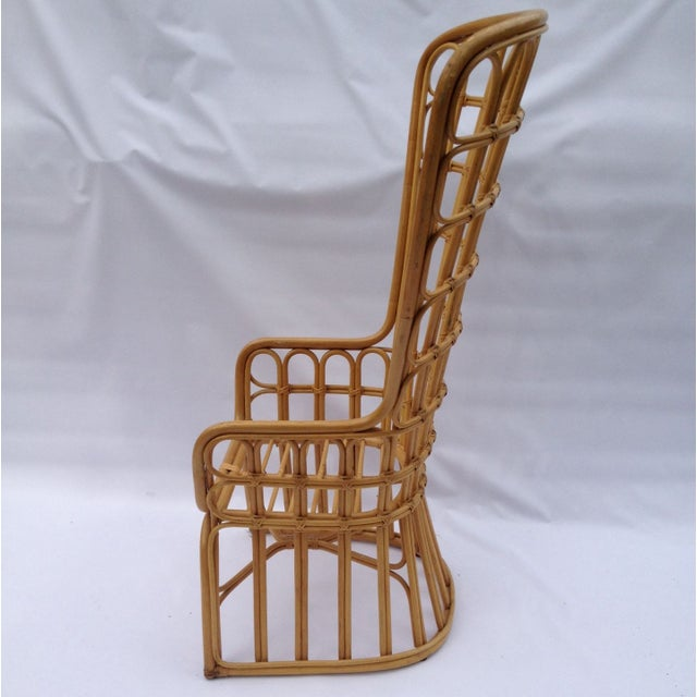 Franco Albini Inspired Wicker Chair For Sale - Image 3 of 4