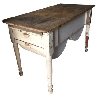 Antique Baking Cabinet Wood Table
