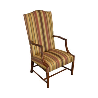 Stickley Colonial Williamsburg Collection Mahogany Martha Washington Lolling Arm Chair For Sale