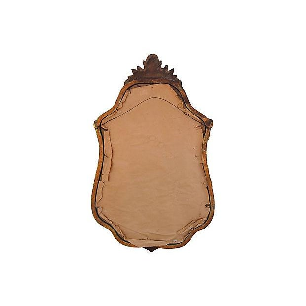 Gold Large Ornate 1940s French Gold Gilt Wall Mirror For Sale - Image 8 of 10