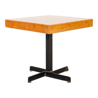 Les Arcs Adjustable Square Table by Charlotte Perriand