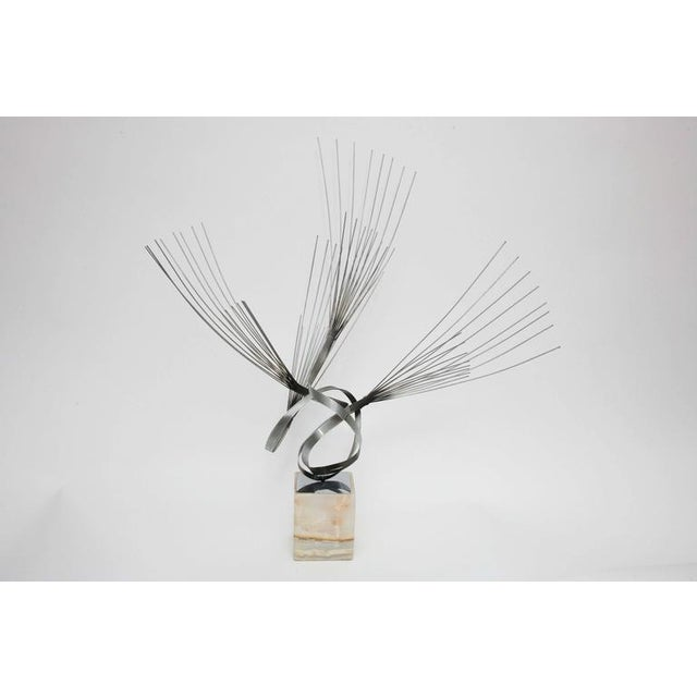 Large Curtis Jere Spirited Wire Table Sculpture For Sale In Miami - Image 6 of 9