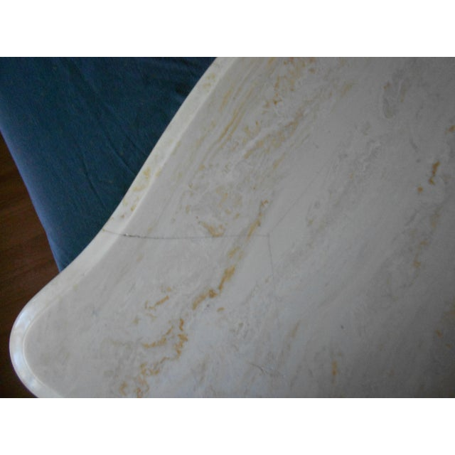French Bombay Marble Top Nightstands - A Pair - Image 6 of 7