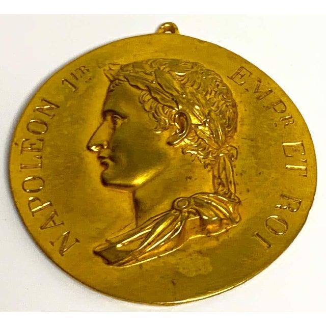 French Empire Napoleon 1er Empire et Roi portrait plaque Depicting Napoleon wearing the laurel leaf crown and Inscribed...