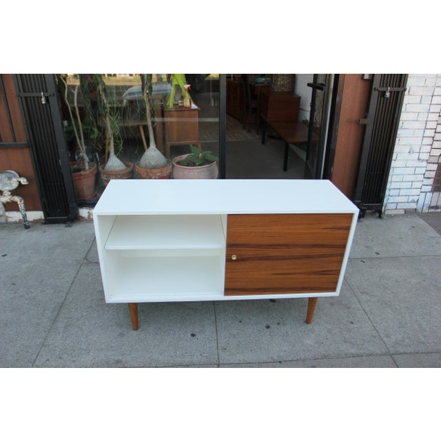 Wood While Lacquered Credenza For Sale - Image 7 of 13
