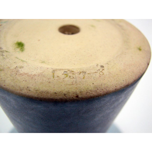 Mid-Century Azure Ikebana Vase For Sale - Image 4 of 10