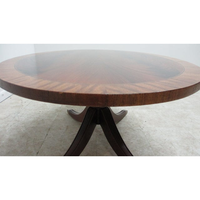 Ethan Allen Flame 18th Mahogany Oval Coffee Table Newport For Sale - Image 11 of 13