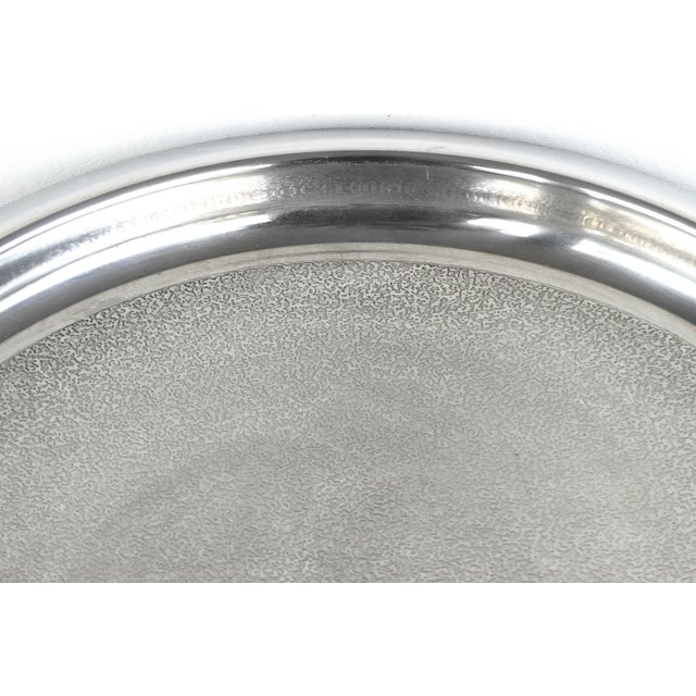 70s Italian Stainless Tray by Flavio Sambinelli for Carlo Giannini. For Sale - Image 4 of 8