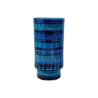 1960s Boho Chic Aldo Londi Bitossi Rimini Blue Vase For Sale