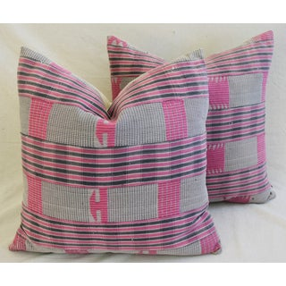 """22"""" Square Boho-Chic Mali Woven Tribal Feather/Down Pillows - a Pair Preview"""
