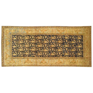 Early 20th Century Antique Persian Malayer Oriental Rug - 3′7″ × 8′ For Sale