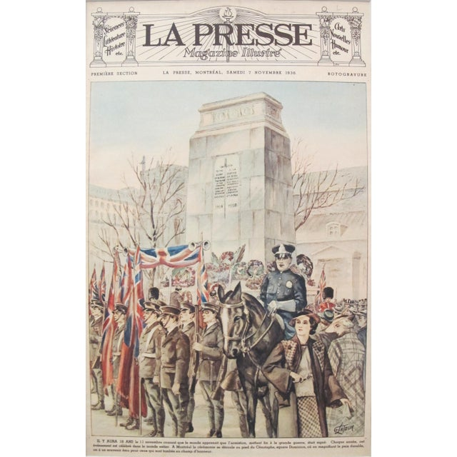 Date: 7 November 1936 Size: 10.5 x 16.5 (image only), 18 x 24 (with mat) Artist: Georges Latour This original print is...