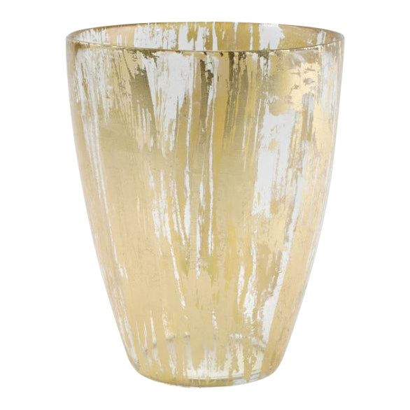 Kenneth Ludwig Chicago Rufolo Gold Glass Vase For Sale