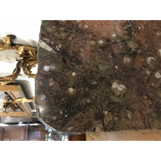 Stone Moroccan Fossil Stone Marble Slab For Sale - Image 7 of 8