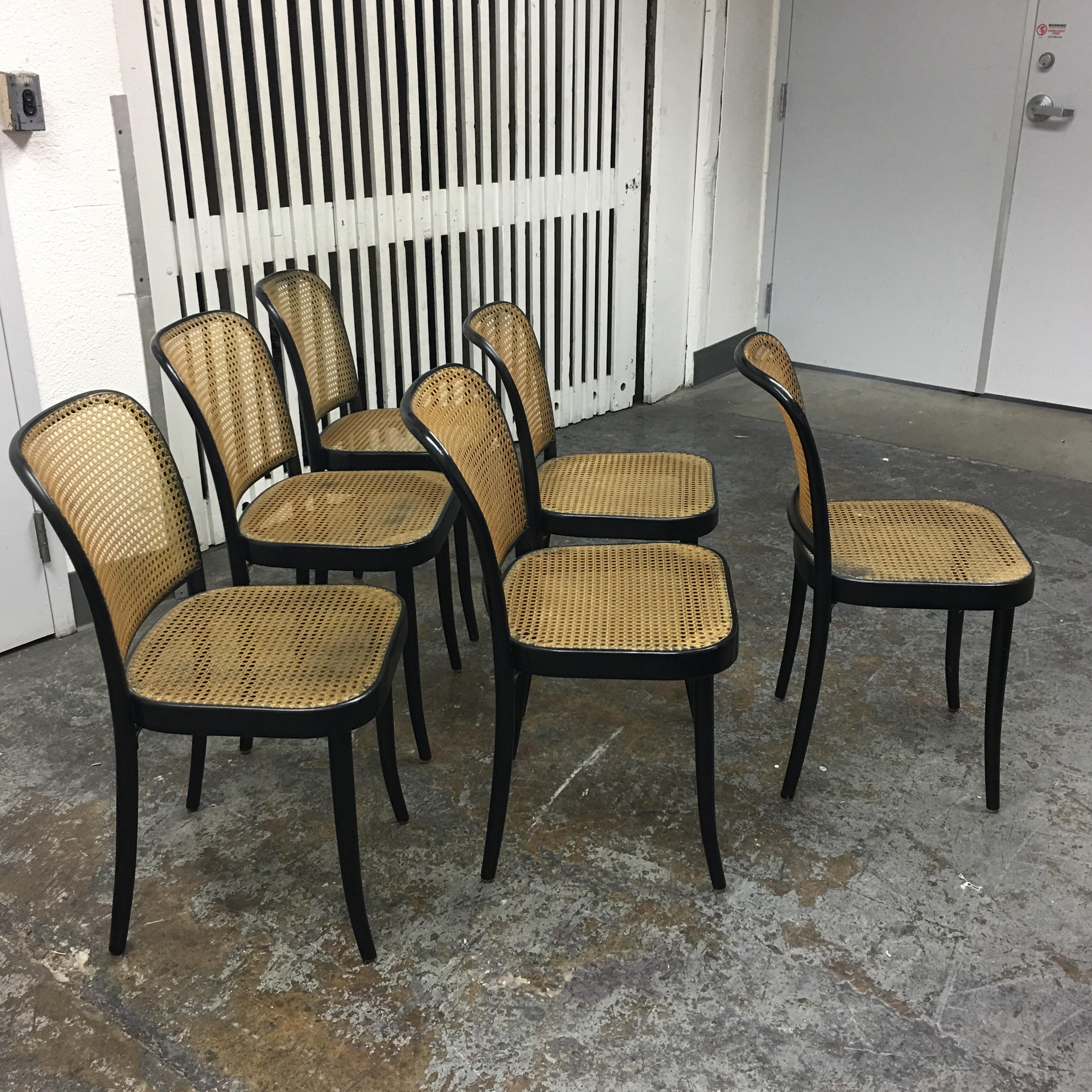 Delightful Stendig Thonet Black Bentwood Prague Dining Chairs   Set Of 6   Image 5 Of 9