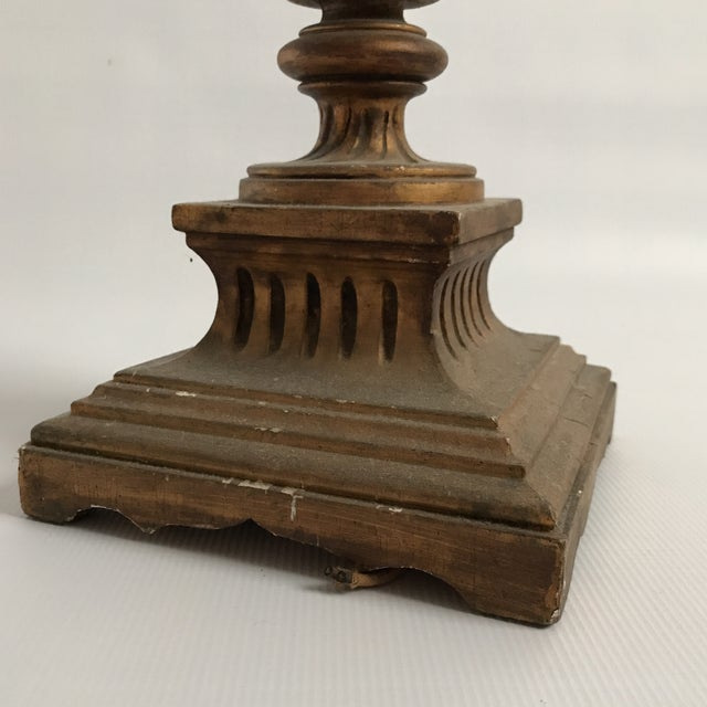 Gold Antique Gold Table Lamp For Sale - Image 8 of 11
