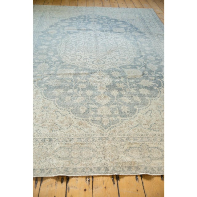 "Vintage Distressed Oushak Carpet - 6'6"" X 9'7"" For Sale - Image 9 of 13"