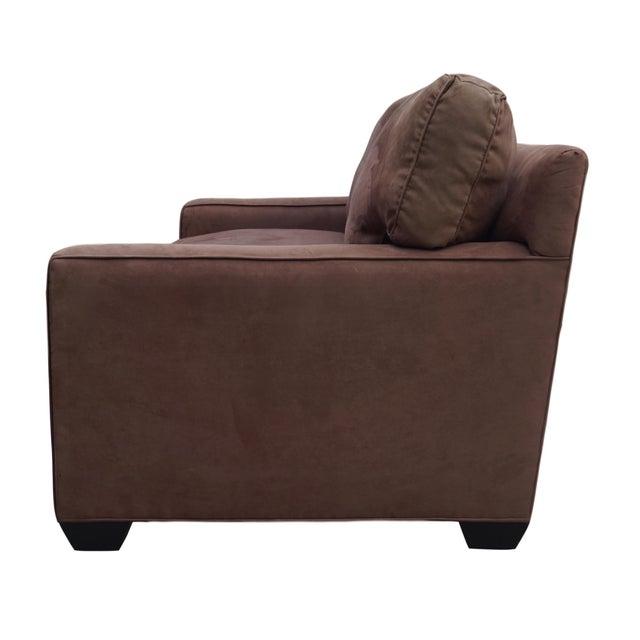 Barclay Butera Brown Microsuede Sofa
