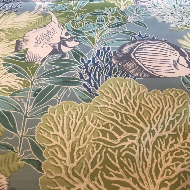 Manuel Canovas Indoor / Outdoor Patmos Fabric - 3 1/2 Yards For Sale In Raleigh - Image 6 of 8