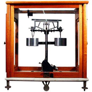 Analytical Beam Balance Scientific Scale in Glass Case