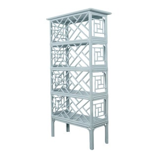 Chippendale Etagere - Blue For Sale