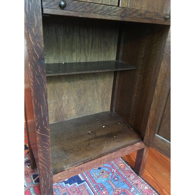 1925 Mission Oak Prohibition Era Liquor Cabinet For Sale - Image 6 of 10
