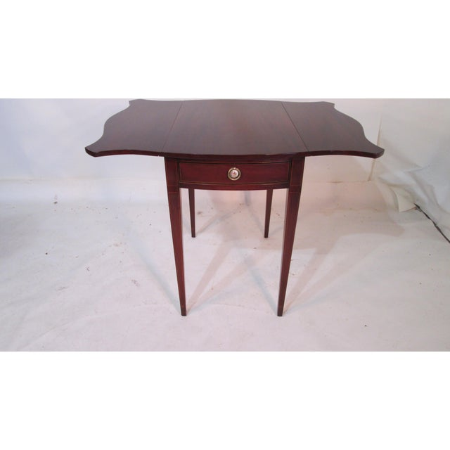Mahogany Pembroke Tables - A Pair For Sale - Image 5 of 11