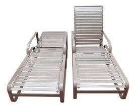 Image of Double Outdoor Chaise Lounge