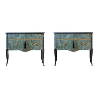 Louis XV Commodes With Marble Tops - a Pair For Sale