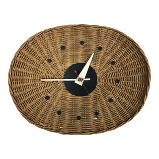 Mid-Century Modern Basket Wall Clock by George Nelson & Irving Harper for Howard Miller For Sale