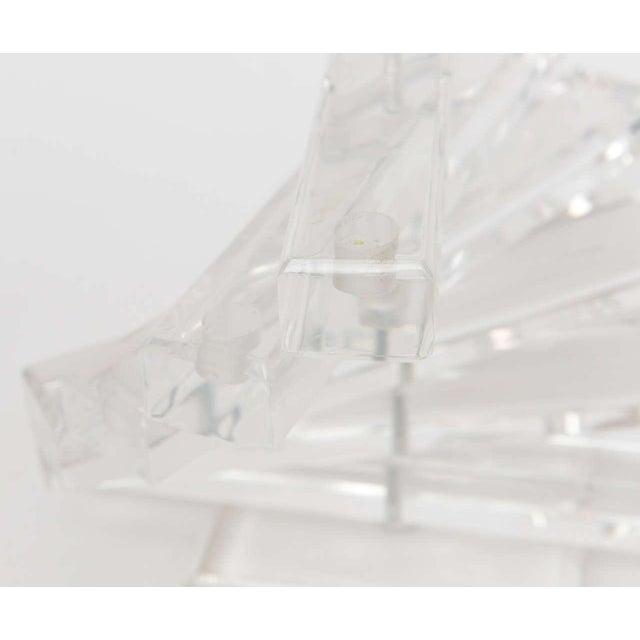 "Boho Chic Lucite Vintage"" Spiral Staircase"" Sculptural 12 Light Candelabra For Sale - Image 3 of 11"