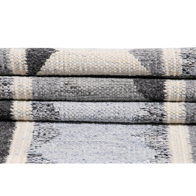 21st Century Contemporary Swedish Style Runner Rug, 3' X 12' For Sale - Image 10 of 11