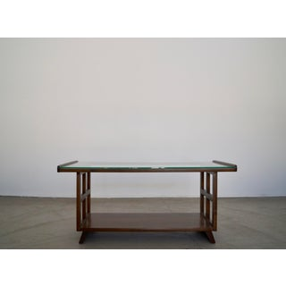 Mid-Century Modern Coffee Table With Glass Top Refinished Preview