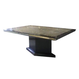 St. Laurant Marble Extension Dining Table For Sale