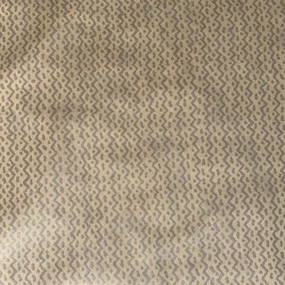 """Fortuny Style Silkworks """"Java"""" Handprinted Cotton Fabric- 2 1/2 Yards For Sale"""
