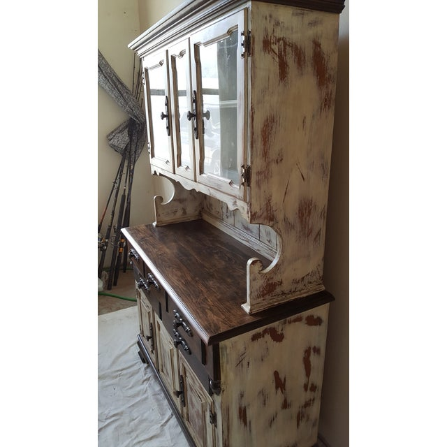 Shabby Chic Young Republic Brand Hutch / Buffet - Image 4 of 6