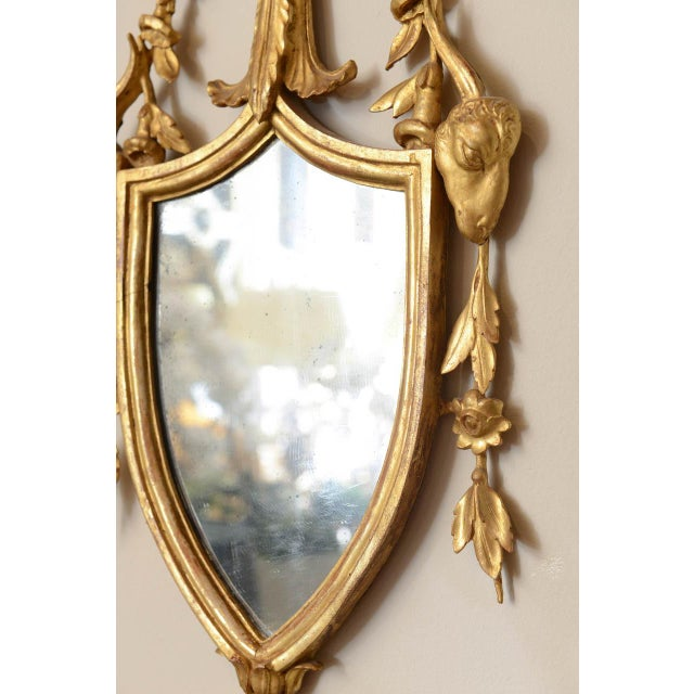 19th C. Giltwood Mirrored Sconces - a Pair For Sale In West Palm - Image 6 of 11