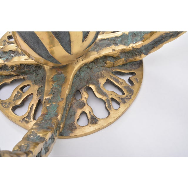 Bronze Henri Fernandez Octo Coffee Table, France, 1972 For Sale - Image 7 of 10