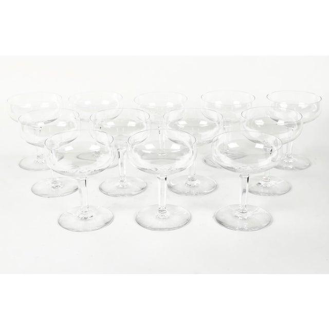 Baccarat Vintage Set 12 Baccarat Crystal Champagne Coupes For Sale - Image 4 of 7