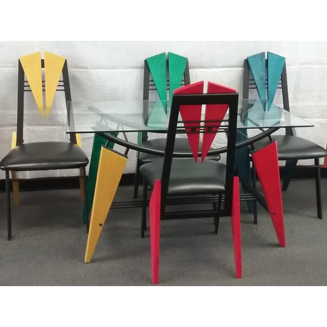 Art Deco Multicolor Dining Set - Image 2 of 6