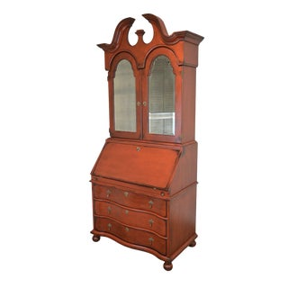 Inheritance by Heritage Red Painted Secretary Desk For Sale