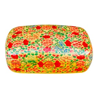 Floral Kashmiri Hand Painted Box For Sale