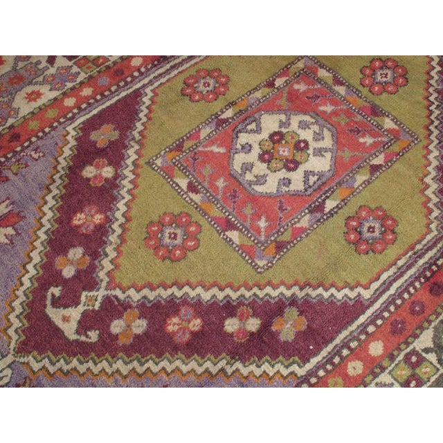 1950s Yuntdag Rug For Sale - Image 5 of 6