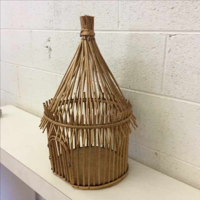 Vintage Bamboo Birdcage - Image 4 of 8