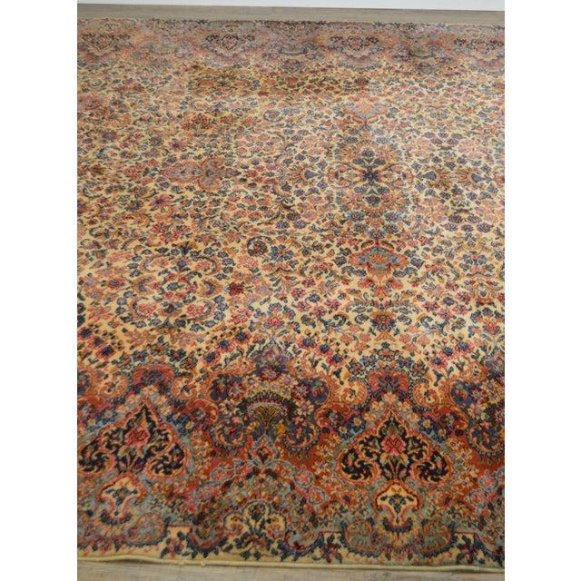 Textile Karastan 10'x16' Kirman Vintage Large Room Size Carpet Rug #759 For Sale - Image 7 of 13