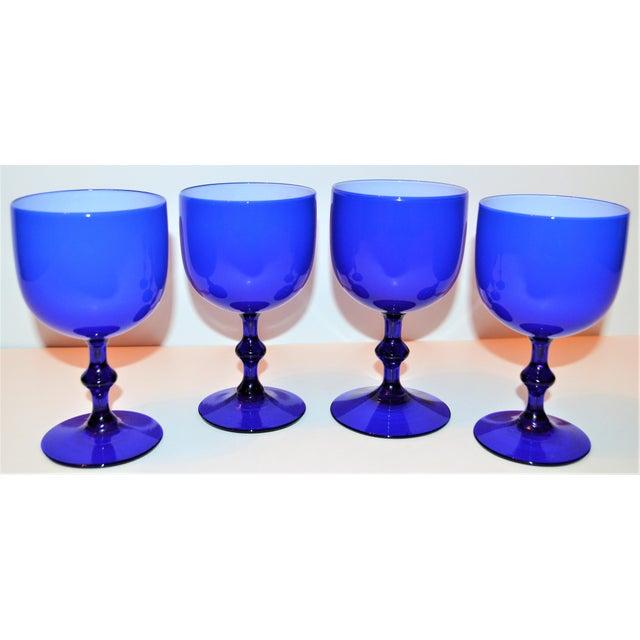 Glass 1960s Carlo Moretti Italian Cased Stemware - Set of 4 For Sale - Image 7 of 7