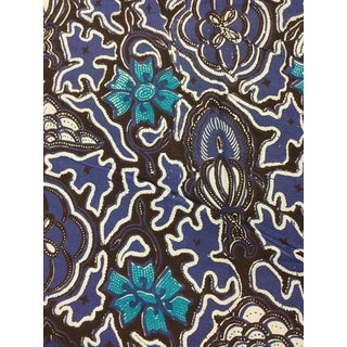 1970s Asian Authentic Hand Printed Batik Cotton Fabric For Sale