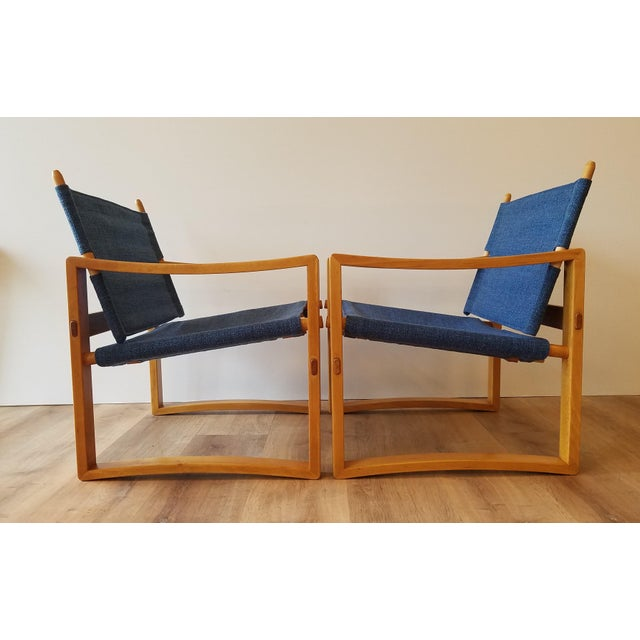 Newly-Upholstered Borge Jensen Danish Safari Sling Chairs - a Pair For Sale - Image 10 of 10