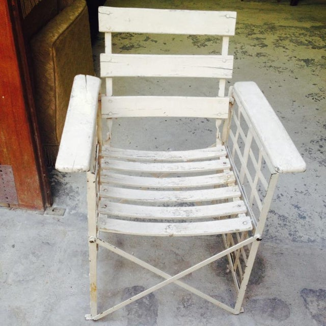 Austrian Sécession Pair of Garden Arm Chairs in Genuine Vintage Condition For Sale - Image 4 of 8