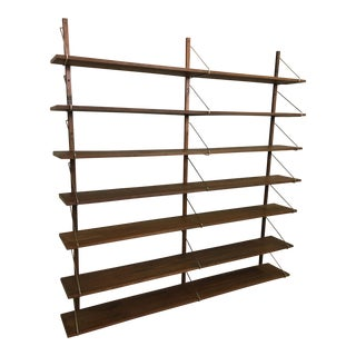 Walnut Shelving Unit in Style of Poul Cadovius